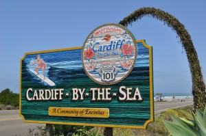 Cardiff by the Sea community sign