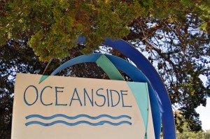 Oceanside community sign