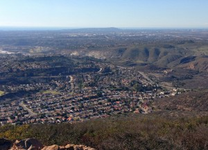 San Carlos view from Cowles Mountain