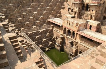 Chand Baori at Abhaneri by Chetan licensed under the terms of CC BY-SA 3.0