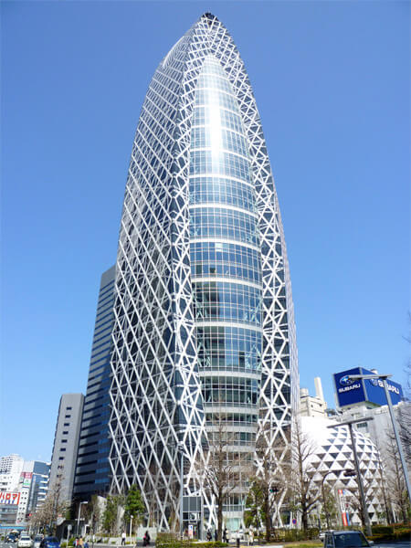 The Cocoon Tower in Tokyo, Japan