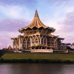 The New Sarawak State Legislative Assembly Building, photo by Nicky tay