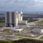 Aerial view of the Nasa Vehicle Assembly Building