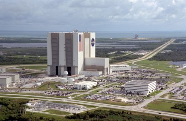Aerial View of Launch Complex by NASA is used under public domain
