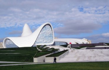 Heydar Aliyev Center by amanderson2 licensed under the terms of Public Domain