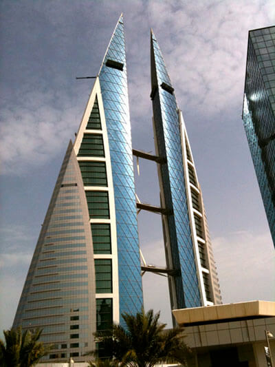 Bahrain world trade center by Fred Hsu is licensed under CC BY 2.0