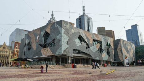 Federation Square by Francisco Anzola is licensed under CC BY 2.0