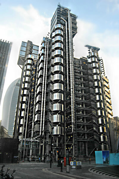 """Lloyds of London"" Building by Loco Steve is licensed under CC BY-SA 2.0"