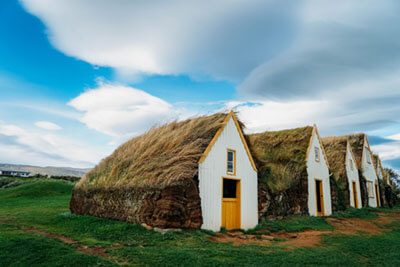 Turf Houses, Glaumbær, Iceland by messicanbeer is licensed under CC BY 2.0
