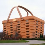 Newark-ohio-longaberger-headquarters-front by Tysto is used under the public domain.