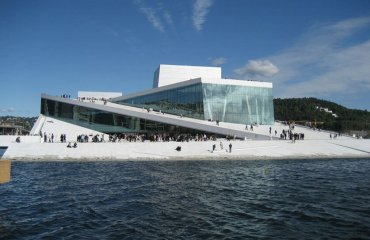 Oslo's Opera House by VisitOSLO is licensed under CC BY 2.0
