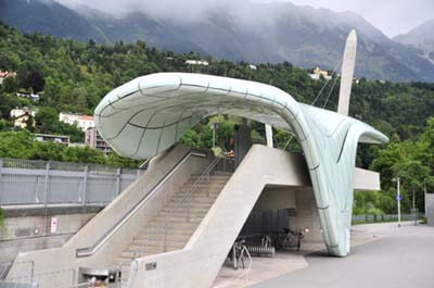 """""""Zaha Hadid - Innsbruck Nordpark Cable Railway 53"""" by Forgemind ArchiMedia is licensed under CC BY 2.0"""