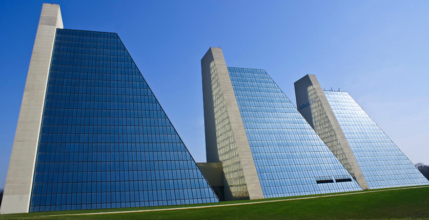 """""""The Pyramids in Indy"""" by Paul J Everett is licensed under CC BY 2.0"""
