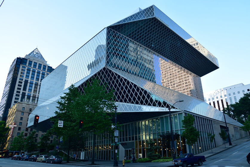 """Seattle Public Library, Central Library"" by Ming-yen Hsu is licensed under CC BY-ND 2.0"