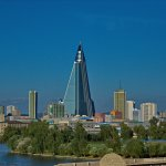 """1231 - Nordkorea 2015 - Pjöngjang - Ryugyong Hotel"" by Uwe Brodrecht is licensed under CC BY-SA 2.0"