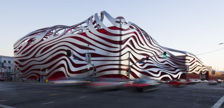 """Petersen Automotive Museum"" by David Zaitz is licensed under CC BY-SA 4.0"