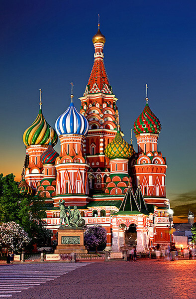 """""""Saint Basil's Cathedral"""" by Julius Silver is licensed under CC BY-SA 4.0"""